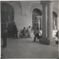 Ladvia on the portico - Romanov family members