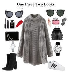"""Two looks one piece!"" by lookbookpassion on Polyvore featuring WithChic, adidas, MICHAEL Michael Kors, Le Parmentier, Spitfire, Prada, Maybelline, Illamasqua, Gucci and Sisley"