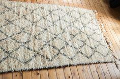 8349 Moroccan Rug Beni Ourain Tribal Pile Natural Wool 170 X