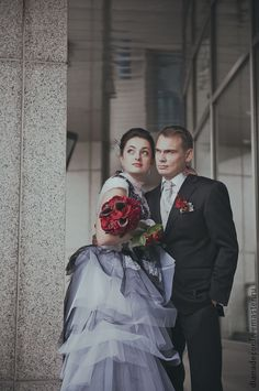 """Букет невесты в тёмно-бордовом цвете """"Бургундия"""". Handmade."""