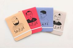 Tinker Tailor Soldier Sailor Notebooks by Past Present on hellopretty.co.za