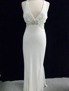Great Gatsby Style Vintage Wedding Dress, Retro Evening Dress, 1930's Style, Old Hollywood, Glamour, READY To SHIP