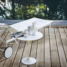 Chaise longue contemporaine / en polyester / en fonte d'aluminium / d'extérieur - 1966 by Richard Schultz - Knoll international
