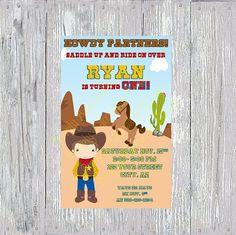 Cute Cowboy Invitation by SimplyAdorableStudio on Etsy
