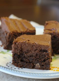 Chocolate Frosted Brownies ohhhh i could go for one of those right now.