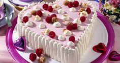 Raspberry and Almond Heart Cake Recipe
