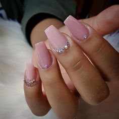 Are you looking for Short Square Almond Round Acrylic Nail Design For Fall and Summer? See our collection full Short Square Almond Round Acrylic Nail Design For Fall and Summer and get inspired! Light Pink Acrylic Nails, Rounded Acrylic Nails, Short Square Acrylic Nails, Pink Acrylics, Diamante Nails, Rhinestone Nails, Bling Nails, Orange Nail Designs, Acrylic Nail Designs