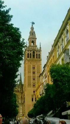 Giralda The bell  tower of the Seville  Cathedral - Seville, Spain