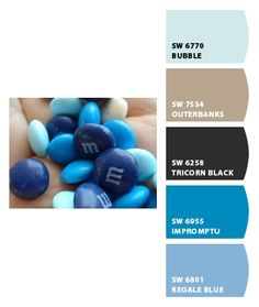 Beauti-Tone:  1) Northern Breeze 6P1-1 Relaxing 2) Ripe Oats 5157 EC Exterior Colours 3) Imperial HD026 Designer Heritage Colours 4) Chills and Thrills 1Q1-8 Energizing 5) One Of A Kind 708 Blue Collection