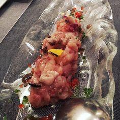Sesión en #Tribeca: Tartar de Carabineros y tuétano #entradas #menu #yummy