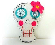 Sugar Skull Plush Day of the Dead Doll