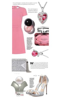 """""""Heart to Heart"""" by itsmeambra ❤ liked on Polyvore featuring RED Valentino, Jimmy Choo, BCBGMAXAZRIA and Gucci"""