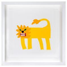 Alan Fletcher Lion limited print