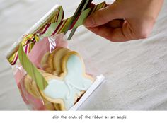 cookie gift bag idea - step by step