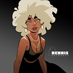 Black Girl Cartoon, Black Girl Art, Black Women Art, Art Girl, Black Girls, Female Character Design, Character Design References, Character Design Inspiration, Character Art