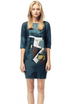 Newspaper - Printed T-shirt Dress