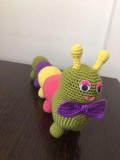Amigurumi Sevimli Tırtıl Tarifi Crochet Eyes, Crochet Rope, Crochet Dolls, Knit Crochet, Amigurumi Doll, Amigurumi Patterns, Crochet Patterns, Knitting Socks, Free Knitting