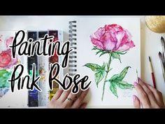 Easy Watercolor Rose   Wet-on-Wet Technique - YouTube