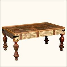 Reclaimed Wood Classic Country Style Rectangular Coffee Table