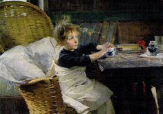 Kuva albumissa HELENE SCHJERFBECK - Google Kuvat.  Lapsen tähden.  Toipilas 1888, Ateneum, osa.