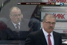 Ottawa Senators coach Paul MacLean stalked by doppelganger during game. Hockey Teams, Hockey Stuff, Sports Teams, Evil Twin, National Hockey League, Ottawa, Nhl, In This Moment, Humor