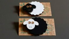 Wooden Sheep Badges, Stan the Black Sheep & Shirley the White Sheep! Handmade jewellery, lasercut from upcycled wood. by BoughtoBeauty on Etsy