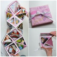 Pin by Lazy Hummingbird on Projekte und Geschenkideen Diy Paper, Paper Crafts, Diy Cadeau, Pop Up Cards, Mini Books, Diy Cards, Little Gifts, Mini Albums, Diy Gifts
