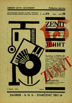 Zenit, issue number 15 - June 1922, editor and publisher Ljubomir Micić