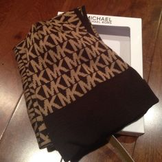 Michael kors Hat & Scarf set Great gift for the holidays . Nicely packaged in box . Both items have MK logo . Color is Brown . MICHAEL Michael Kors Accessories Hats