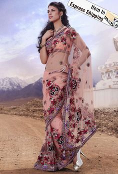 Sarees: Buy Indian Sarees Online, Latest Saree Shopping For Wedding, Engagement, Reception, Parties Latest Designer Sarees, Latest Sarees, Indian Sarees Online, Buy Sarees Online, Peach Color Saree, Buy Salwar Kameez Online, Wedding Silk Saree, Baby Pink Colour, Party Sarees