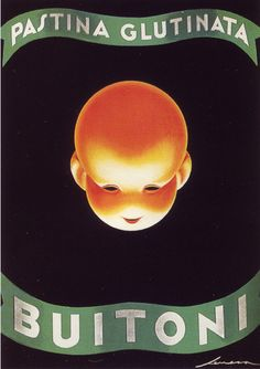 Poster by Federico Seneca (1891-1976), between 1922-1945, Pastina Glutina Buitoni. (I)
