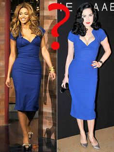 fd8328fa6dd7 Beyonce and Dita Von Teese both wore this figure hugging