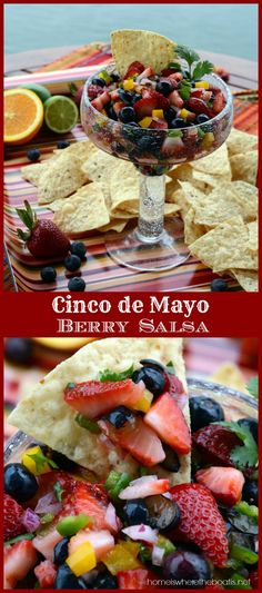 Cinco de Mayo Berry Salsa | homeiswheretheboatis.net #cincodemayo #summer #appetizer