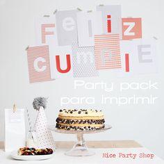 Nice Party: Pack de fiesta para imprimir