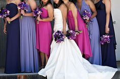 purple + pink color palette bridesmaid dresses...i like all of these colors!