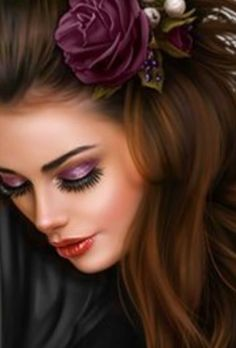 Fantasy Art Women, Fantasy Girl, Portraits, Portrait Art, Girl Face, Woman Face, Lips Cartoon, Girl Makeover, Amanda