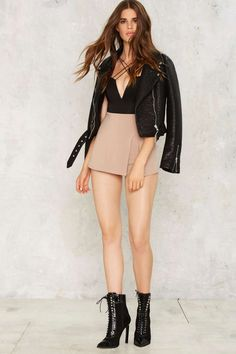 Slit Pretty Stretch Skort | Shop Clothes at Nasty Gal!