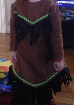 Fabriquer costume indienne fille en feutrine