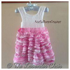 Baby skirt and headband crocheted with Sashay Ruffle yarn ...