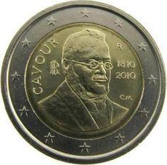 """Moneta Commemorativa """"200° anniv. nascita Camillo Benso conte di Cavour"""" Anno: 2010 Stato: Italia"""