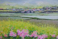 봄 바람 watercolor by insung Jung