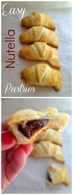 "My ""junior"" version of these Easy Nutella Pastries.  http://www.365ishpins.com/easy-nutella-pastries/"