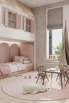 Trendy girl room décor | Looking for more girl's room inspirations? Check CIRCU.NET for more Kids Bedroom Designs, Cute Bedroom Ideas, Kids Room Design, Big Bedrooms, Little Girl Rooms, White Room Decor, Room Decor Bedroom, Luxury Kids Bedroom, Cool Rooms