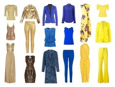 Leontyne's wardrobe: yellow, blue and gold by maryvassilieva on Polyvore featuring polyvore fashion style Steffen Schraut Halston Heritage Proenza Schouler Rick Owens Hervé Léger Moschino Emilio Pucci Sandro RED Valentino Etro Barbara Bui CÉLINE Rochas Étoile Isabel Marant J Brand No Ka'Oi clothing