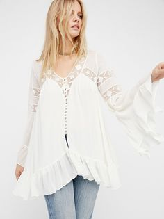 All Night Lace Buttondown from Free People!