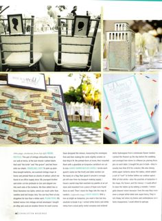 maps for where the guests are sitting. and map lanterns as centerpieces.