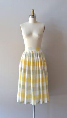 vintage plaid skirt | Fizzy Sour skirt