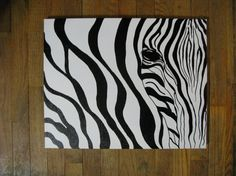 Zebra Painting by ThePurpleManikin on Etsy, $200.00