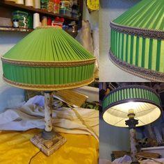 Абажур для старинной лампы. Авторский дизайн. Изготовлен на заказ в мастерской zatin.ru #абажур #зеленыйабажур  #светильник