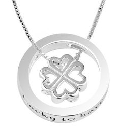 """Sterling Silver """"Lucky To Have You"""" Four Leaf Clover Pendant Necklace , 18"""" Amazon Curated Collection, http://www.amazon.com/dp/B002BH51BI/ref=cm_sw_r_pi_dp_n9zhrb12144PF"""